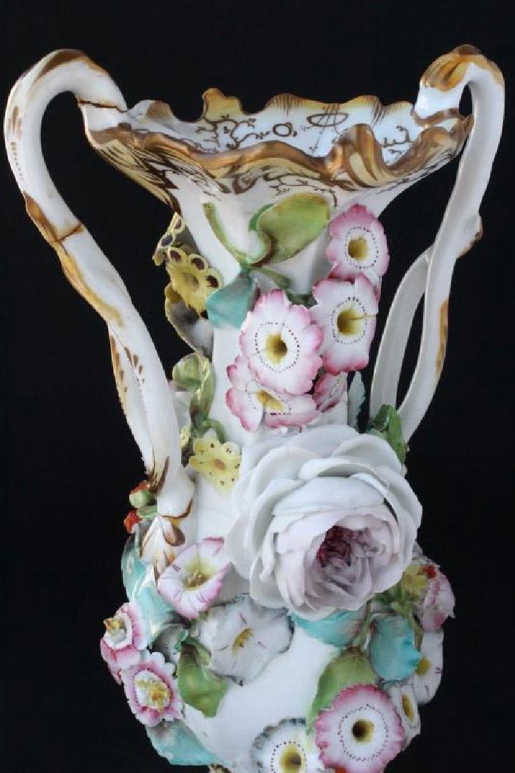 Coalbrookdale Porcelain Twin Handled Vase, - 3