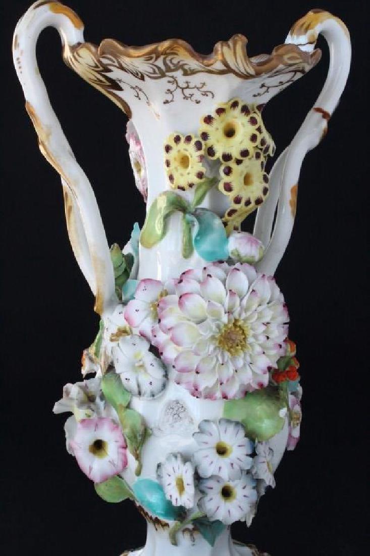 Coalbrookdale Porcelain Twin Handled Vase, - 4