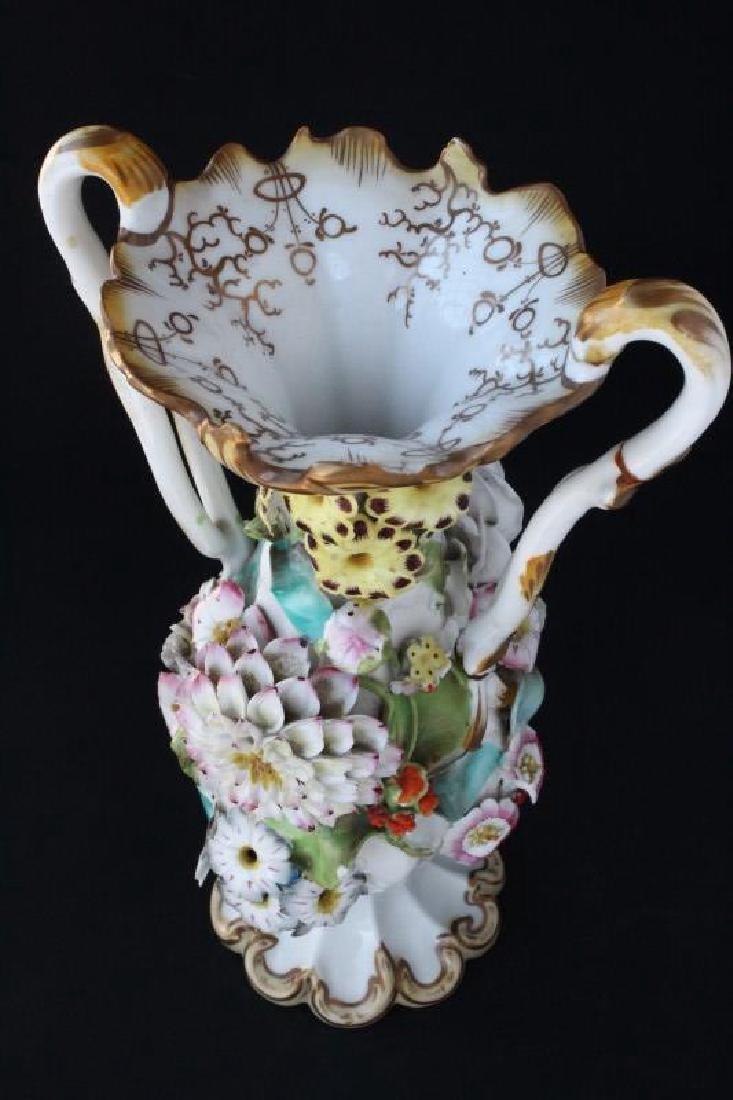 Coalbrookdale Porcelain Twin Handled Vase, - 5