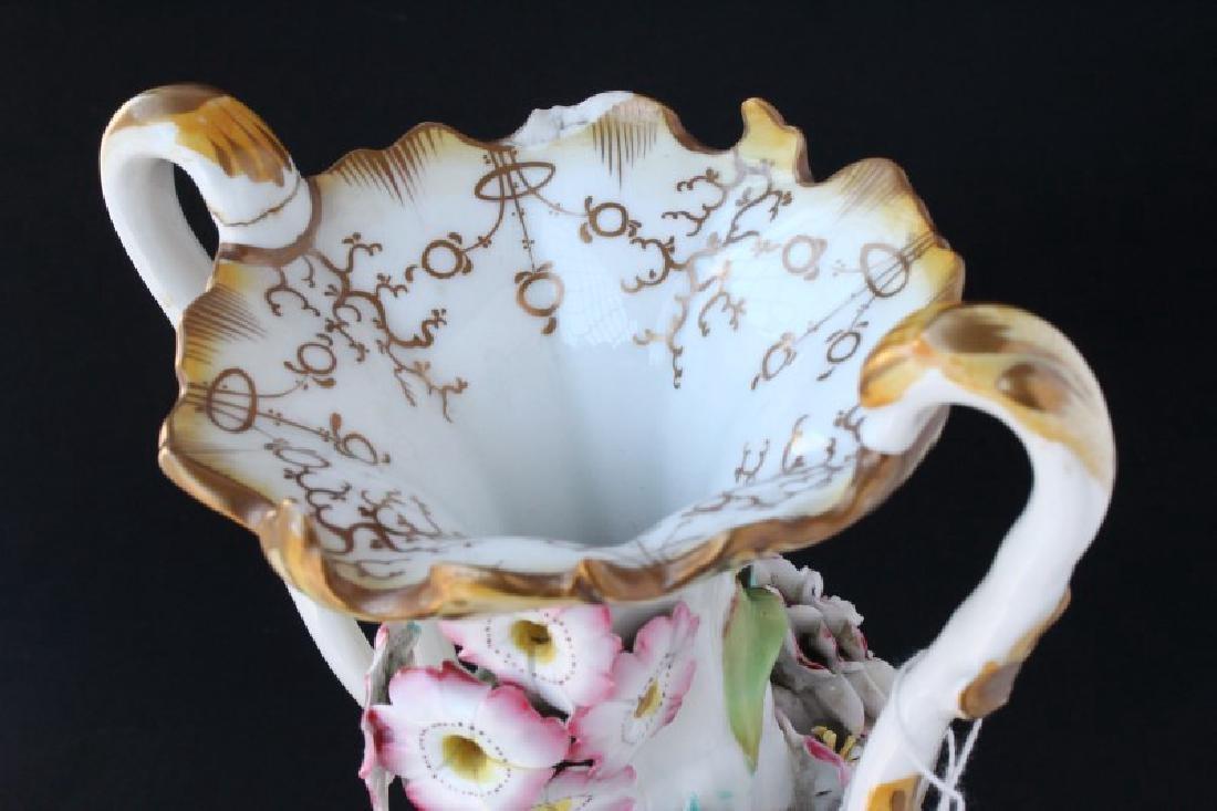 Coalbrookdale Porcelain Twin Handled Vase, - 7
