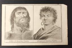 18th Century Engraving A Man of the Island of