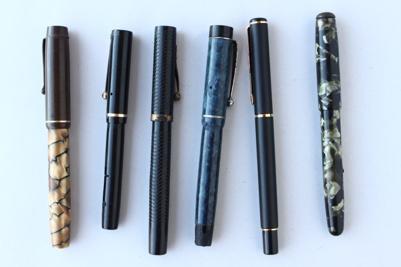 Group of Six Fountain Pens,