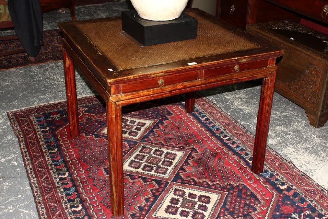Late Qing Dynasty Elmwood Mahjong Table,