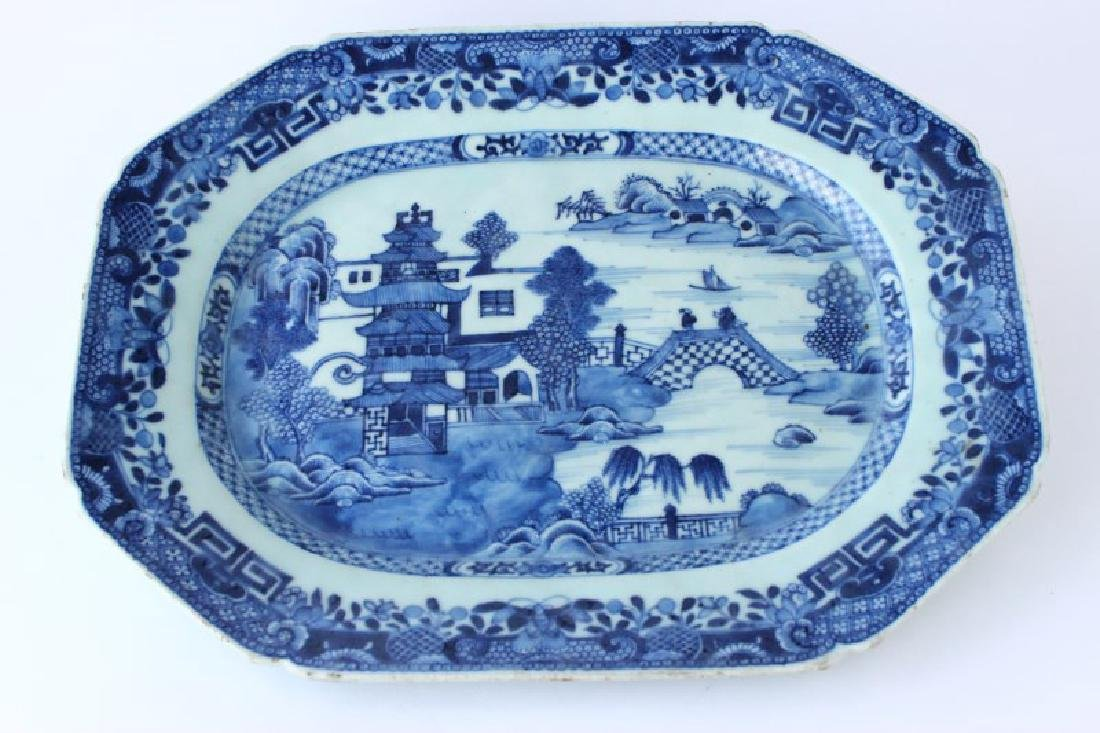 Chinese Qing Dynasty, 18th Century Blue and