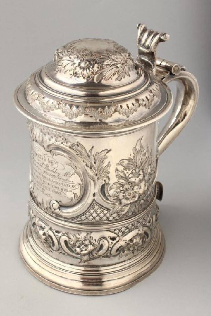 George II Sterling Silver Lidded Tankard,