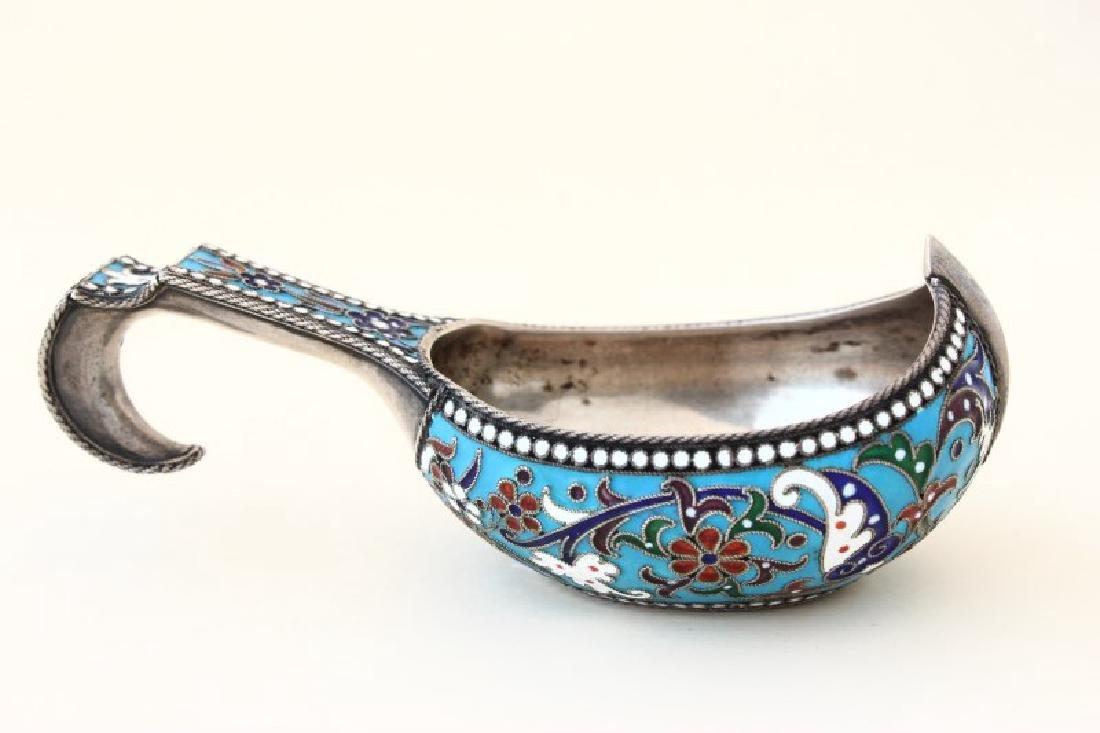 Russian Silver and Enamel Kosh, - 2