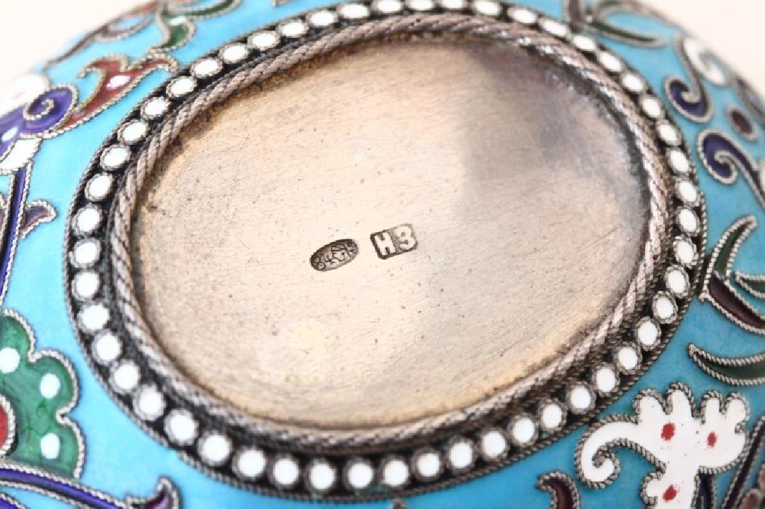 Russian Silver and Enamel Kosh, - 5