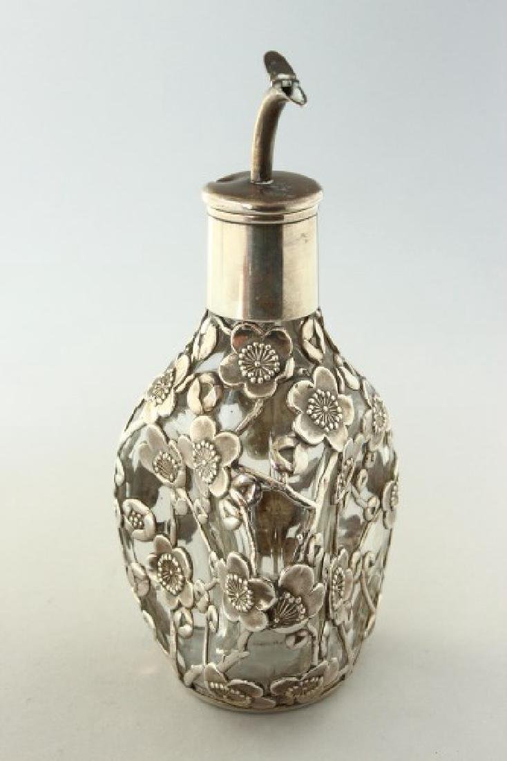 Chinese Sterling Silver Bitters Bottle, - 2