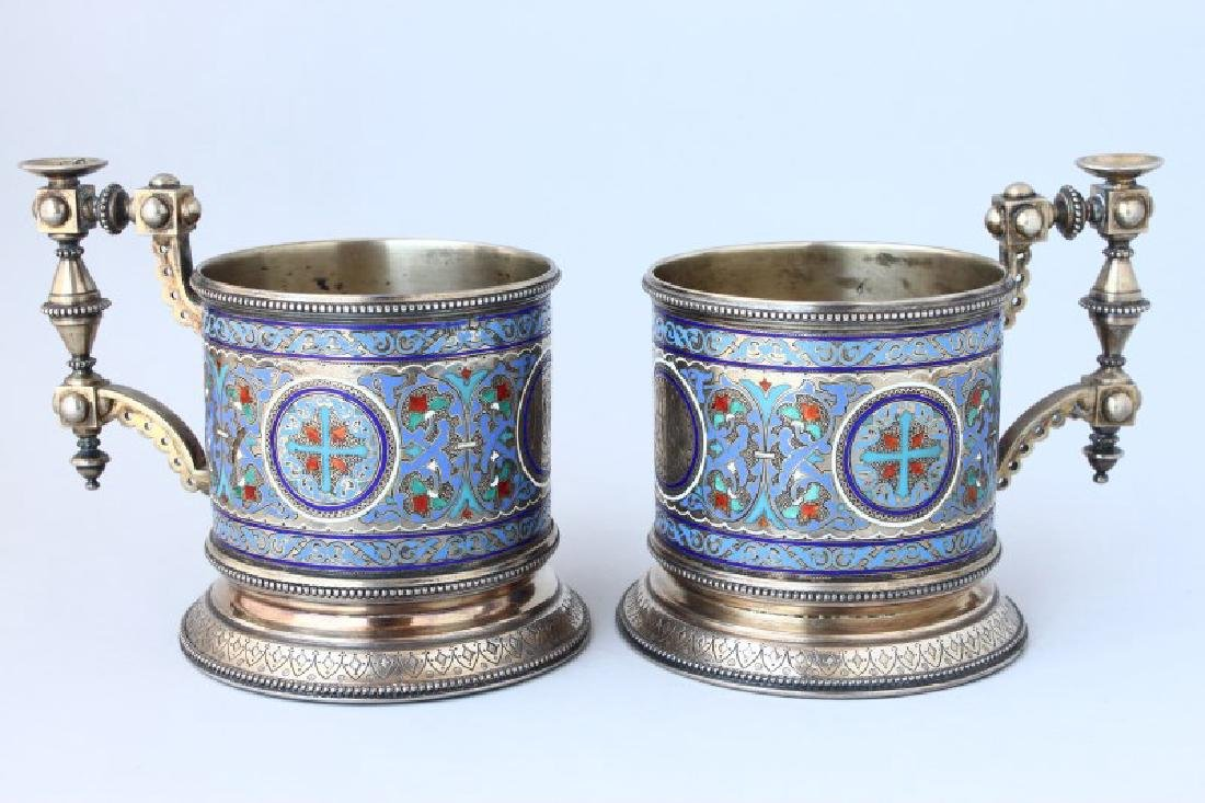 Fine Pair of 19th Century Russian Silver and