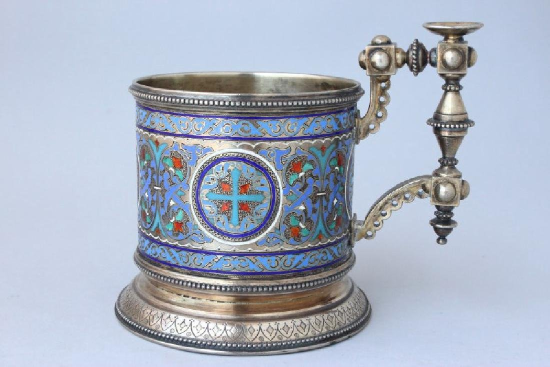 Fine Pair of 19th Century Russian Silver and - 2