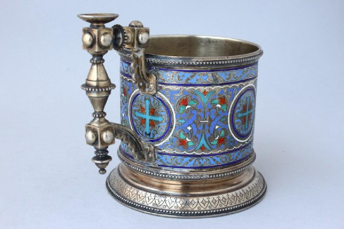 Fine Pair of 19th Century Russian Silver and - 3