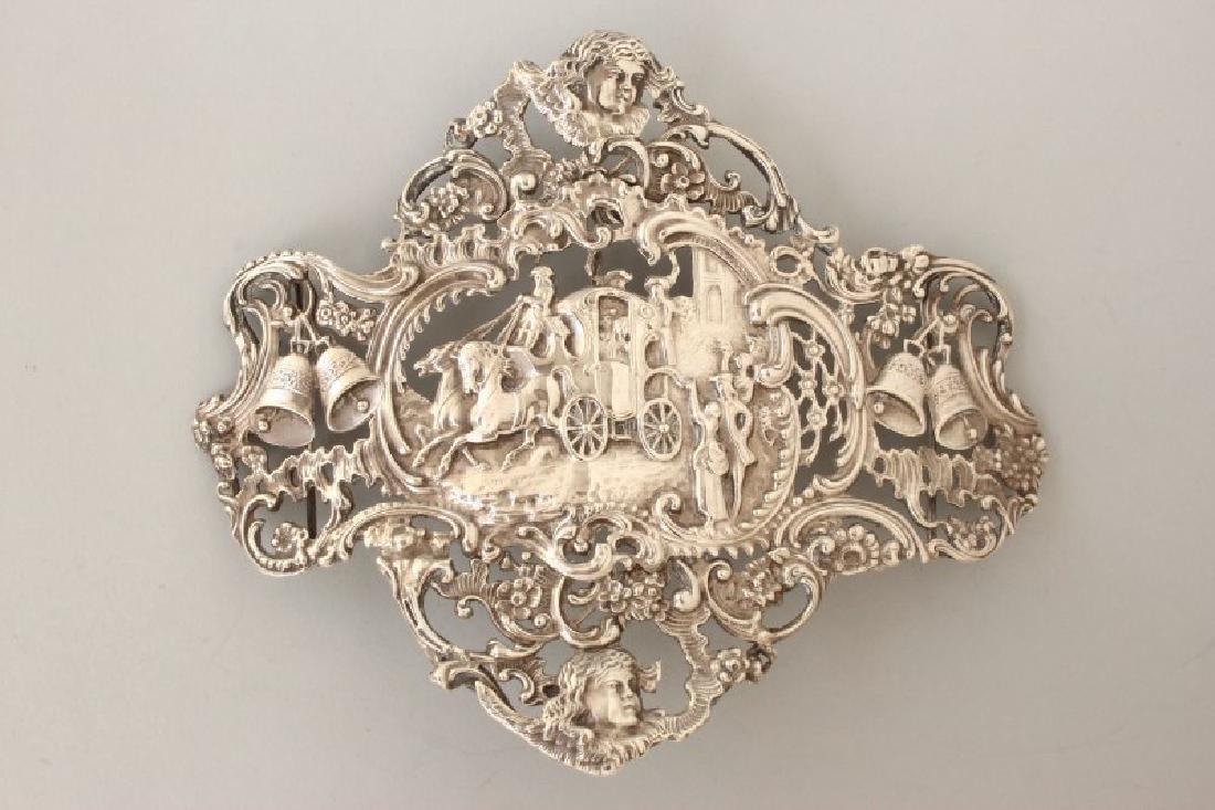 Edwardian Sterling Silver Pierced Buckle,