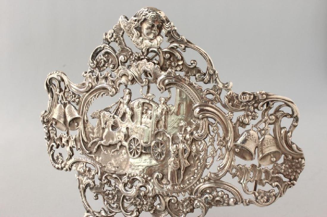 Edwardian Sterling Silver Pierced Buckle, - 2