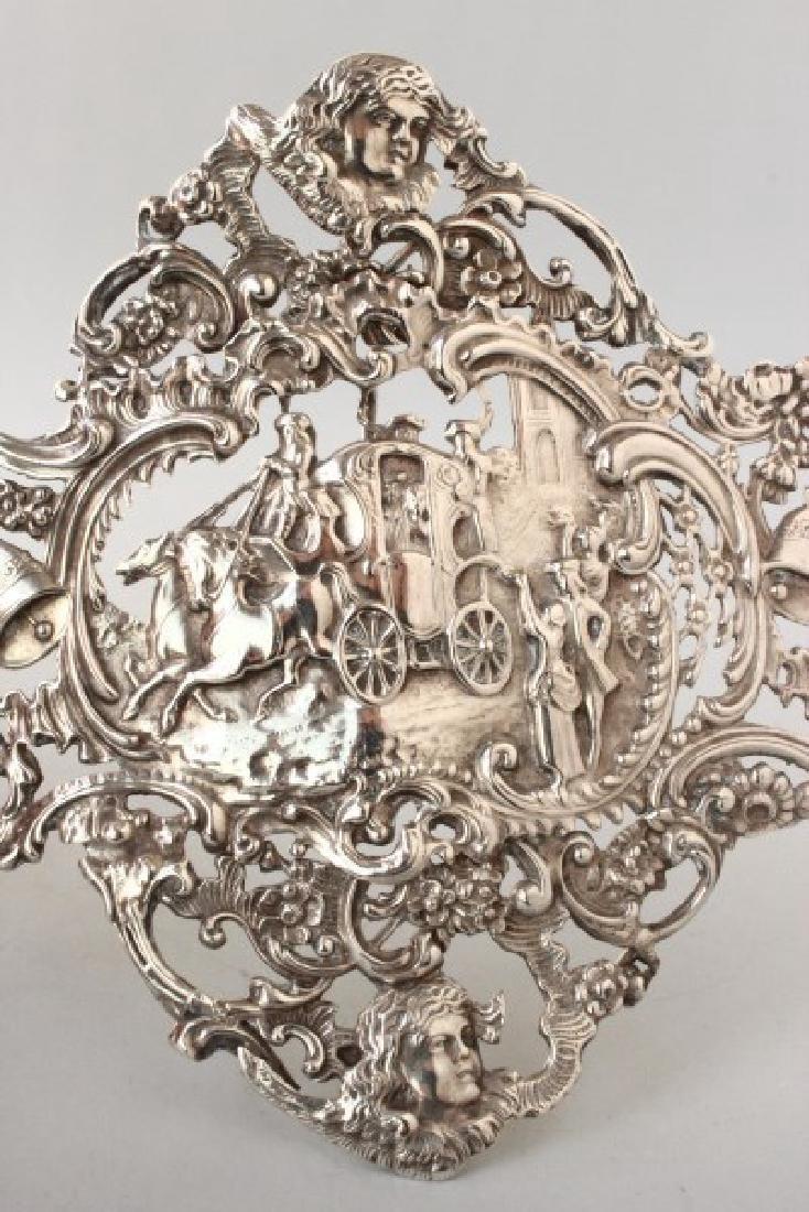 Edwardian Sterling Silver Pierced Buckle, - 3