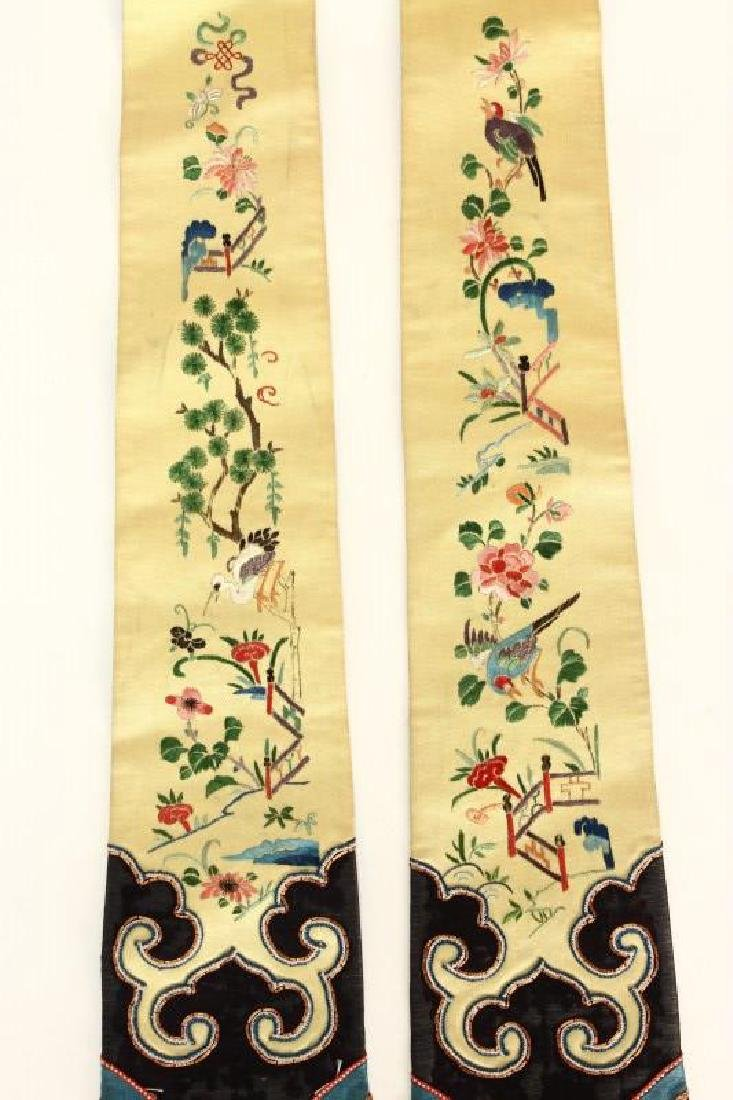 Chinese Silk and Embroidered Belt/Tassel, - 2