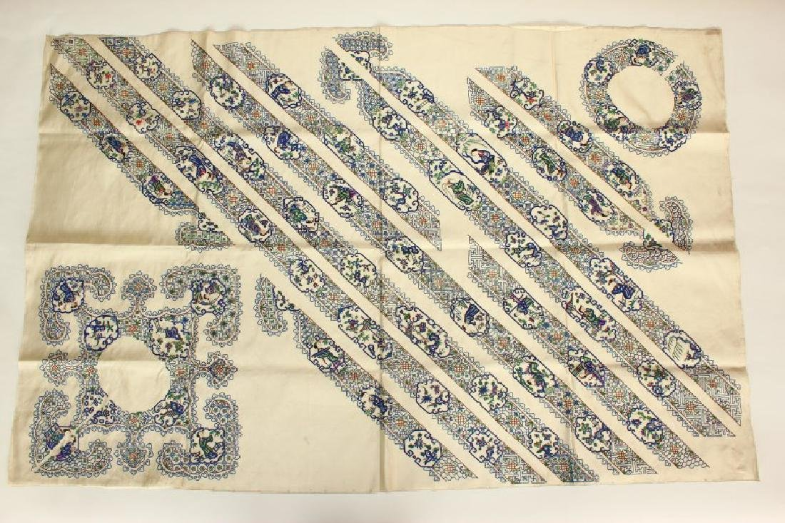 Chinese Late Qing Dynasty Embroidered Panel,