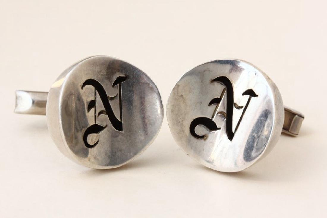 Pair of Gentleman's Mexican Sterling Silver