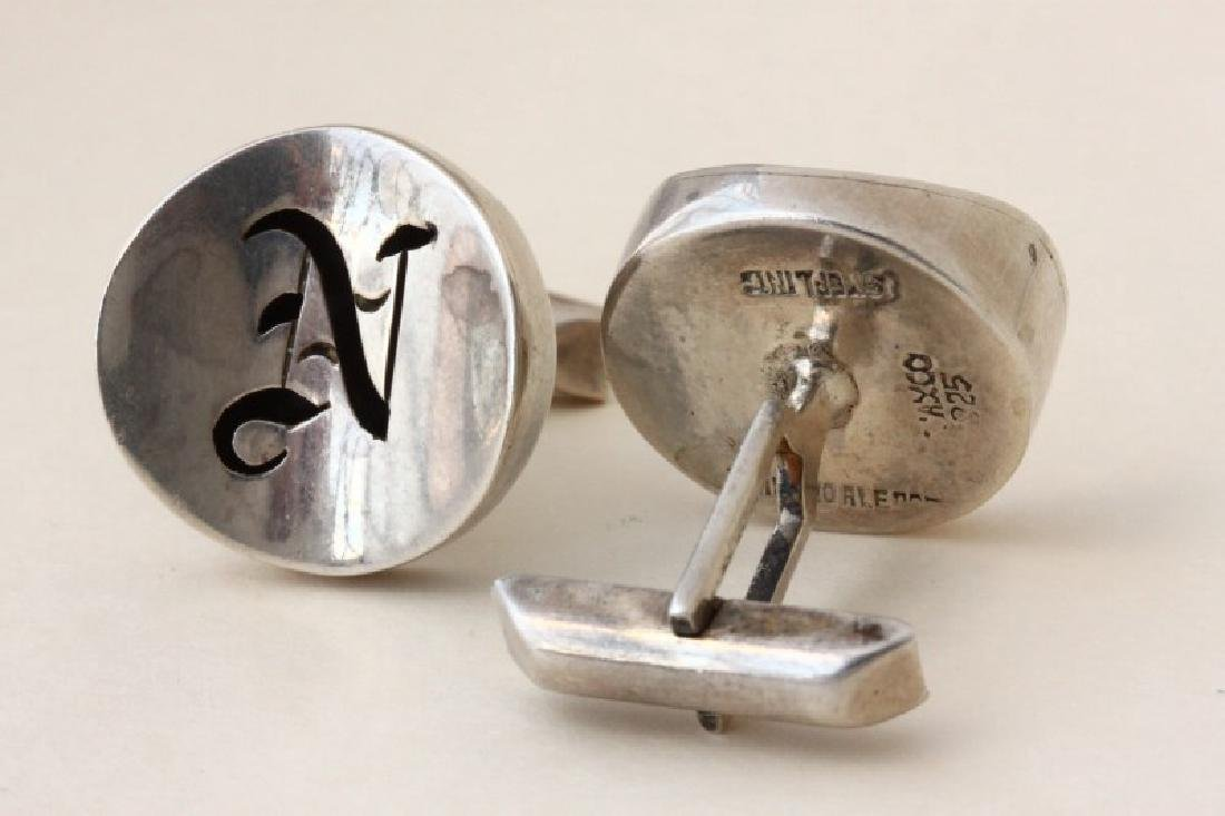 Pair of Gentleman's Mexican Sterling Silver - 2