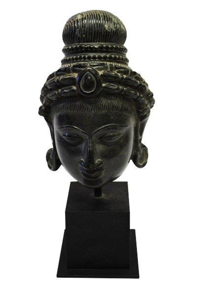 Good 12th/13th Century Rajasthan Black Stone Head