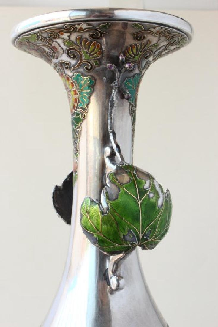 Exceptional Japanese Bronze, Silver and Enamel - 4