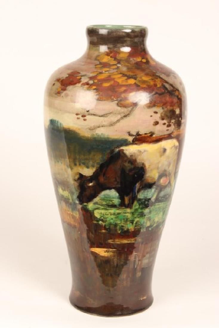 Unusual Gouda Porcelain Vase,