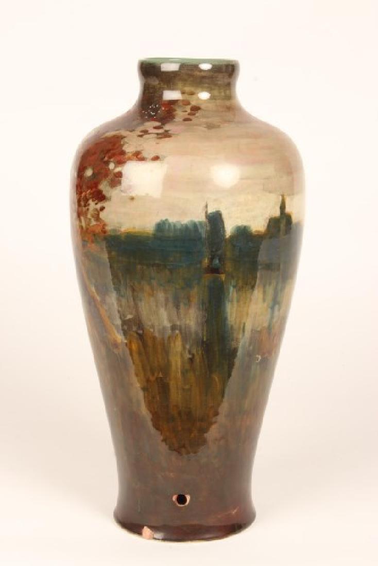 Unusual Gouda Porcelain Vase, - 2
