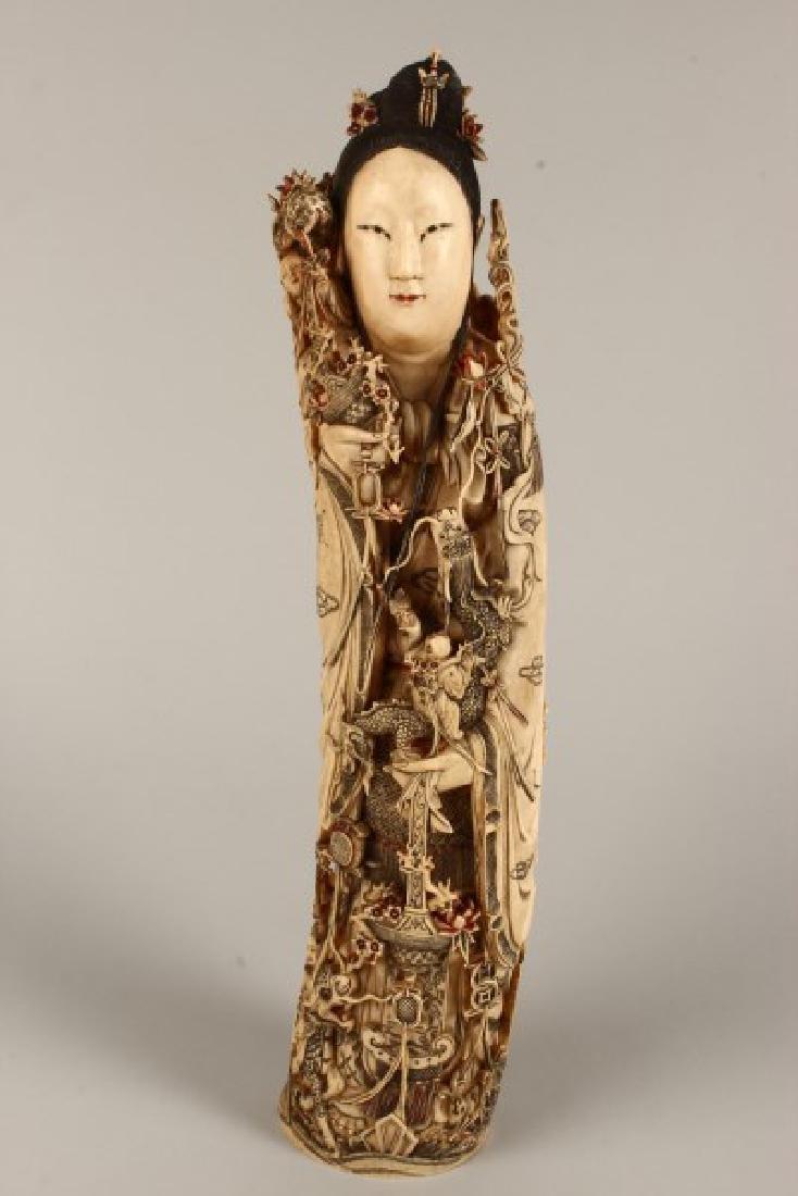 Large Early 20th Century Figure of Kwan Yin