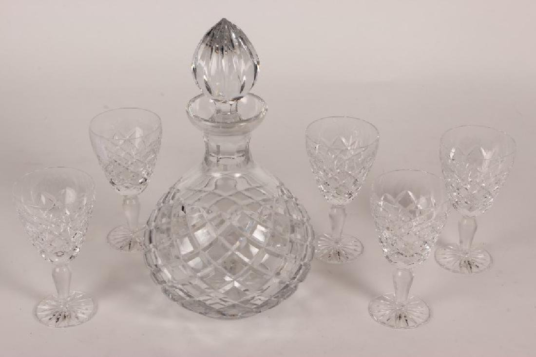 Crystal Decanter and Glasses,