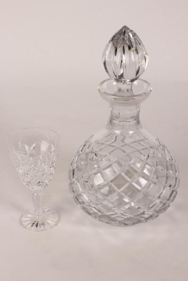 Crystal Decanter and Glasses, - 2