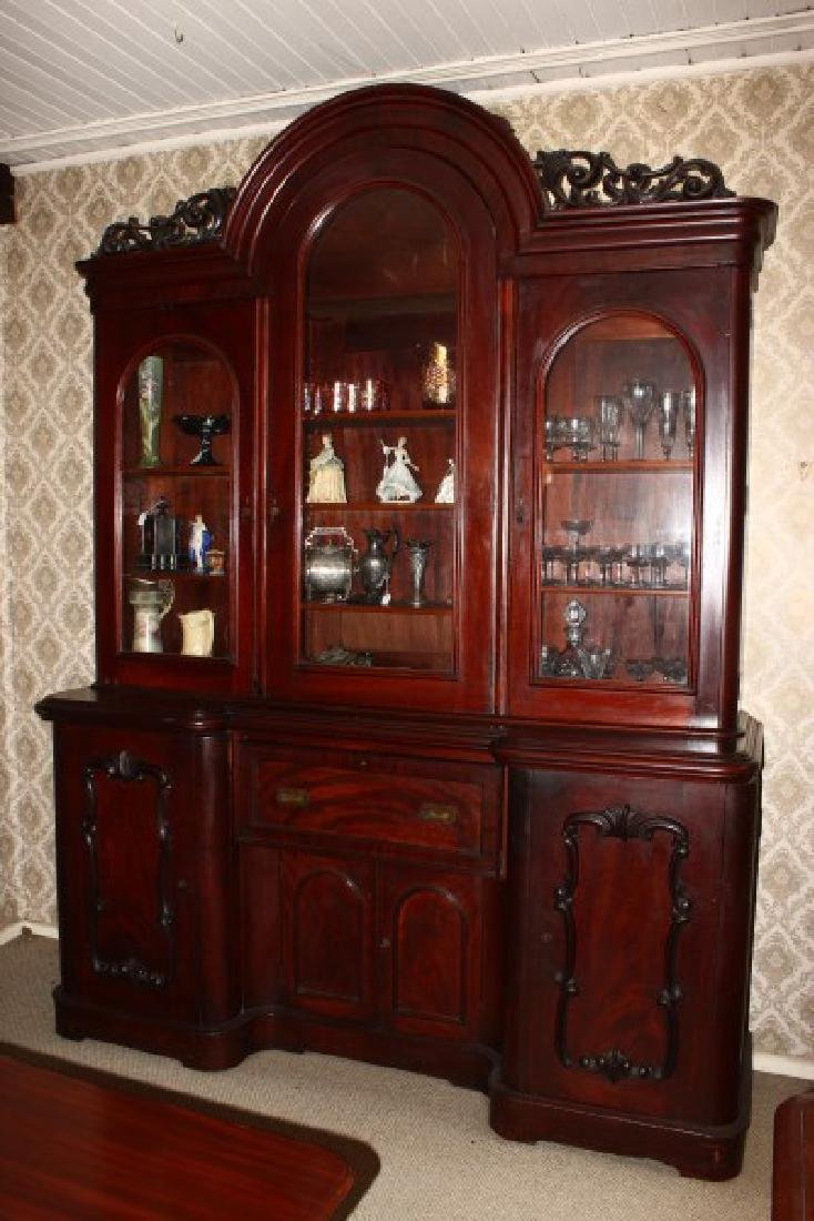 Victorian Three Door Secretaire Bookcase,