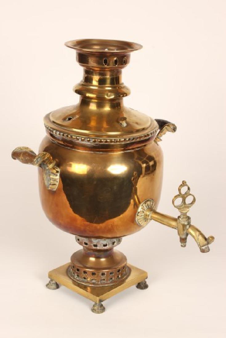 Brass Samovar and Trivett, - 2