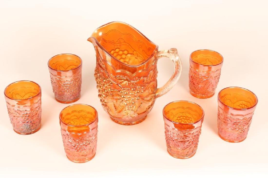 American Carnival Glass Lemonade Set,
