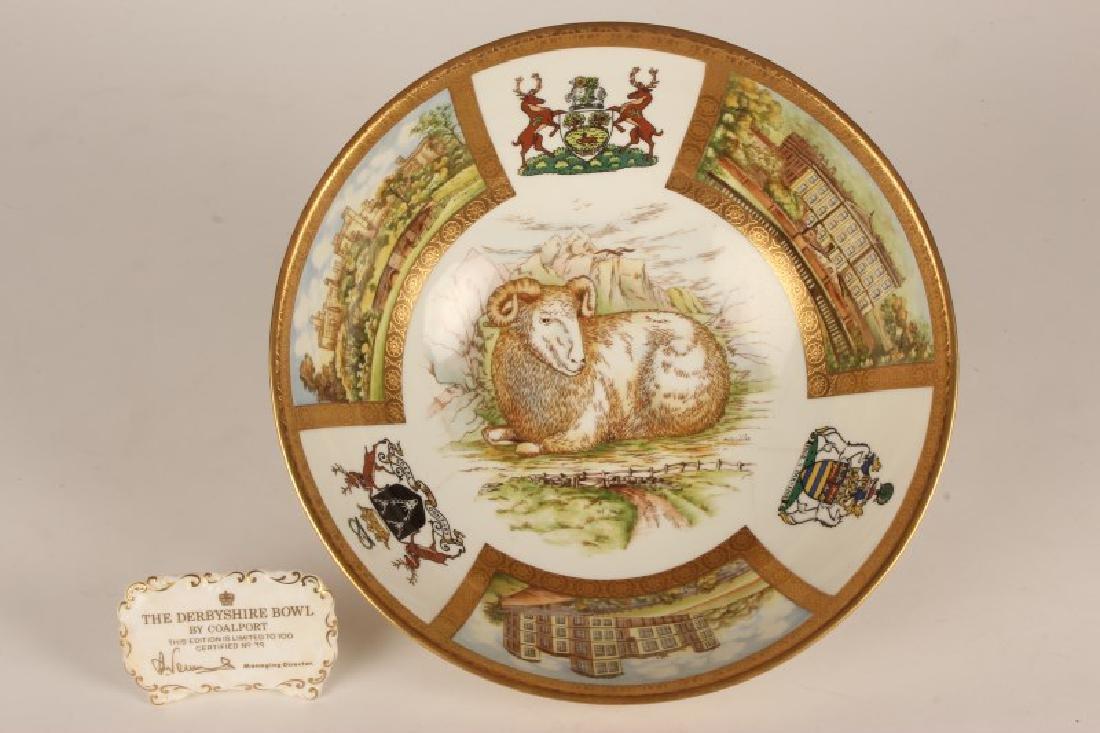 "Coalport Limited Edition ""Derbyshire Bowl"" ,"