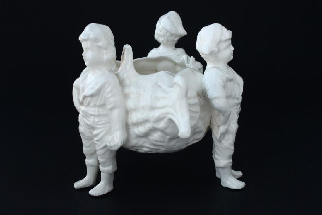 Victorian Blanc De Chine Porcelain Figural - 3