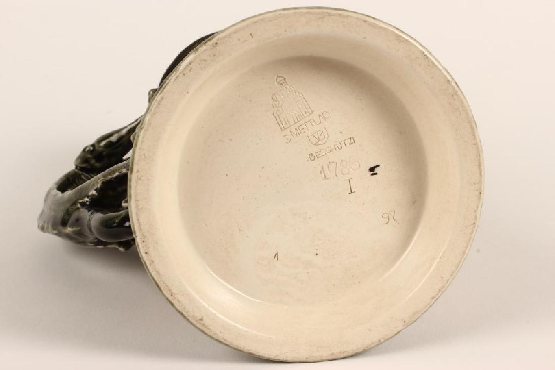 Mettlach Stoneware Ewer, - 4