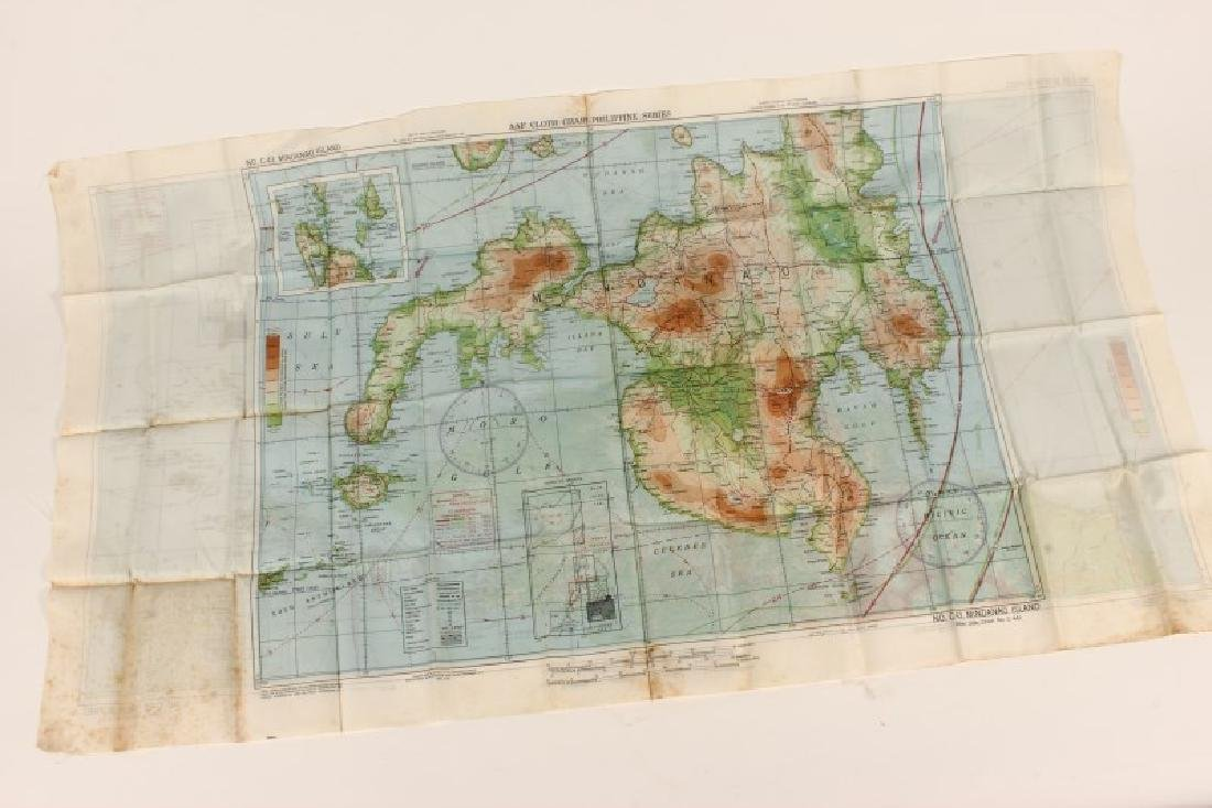 World War II Pilots Silk Flying Map,