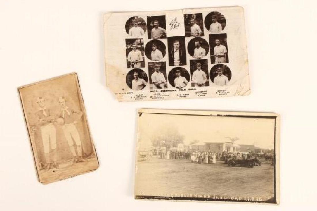 Early Photographic Postcard of M.C.C Australian