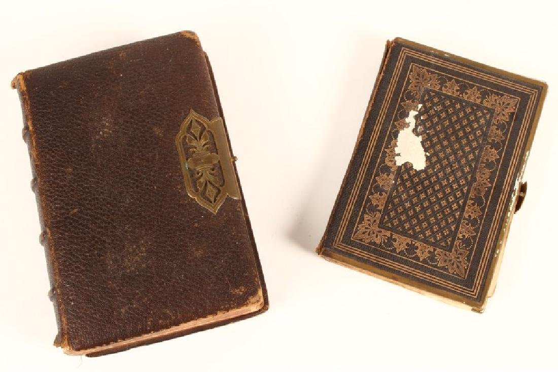 19th Century Leather Bound Bible and Hymn Book,