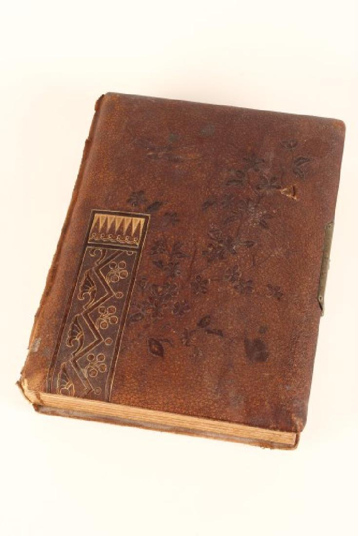 Early Leather Bound Photograph Album,