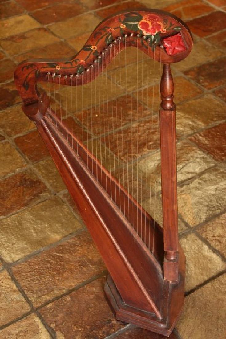 20th Century Folk Art Harp,