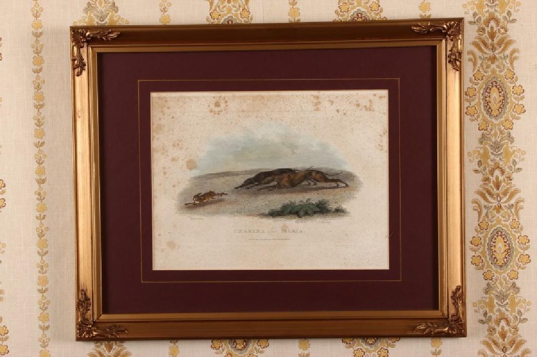 "19th Century Handcoloured Engraving ""Czarina and"