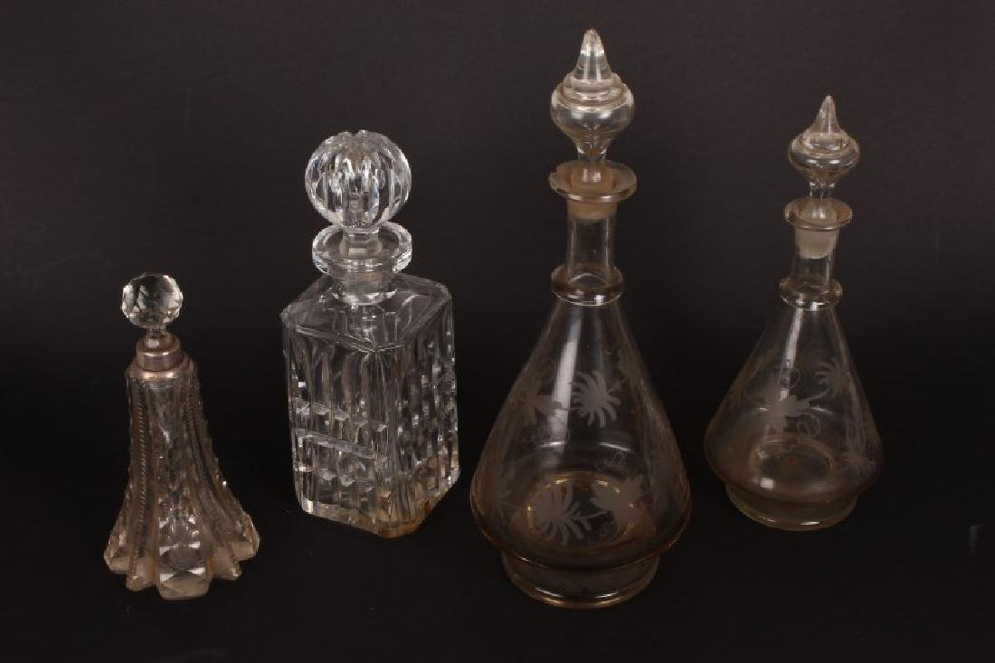 Two Victorian Decanters and Stoppers,