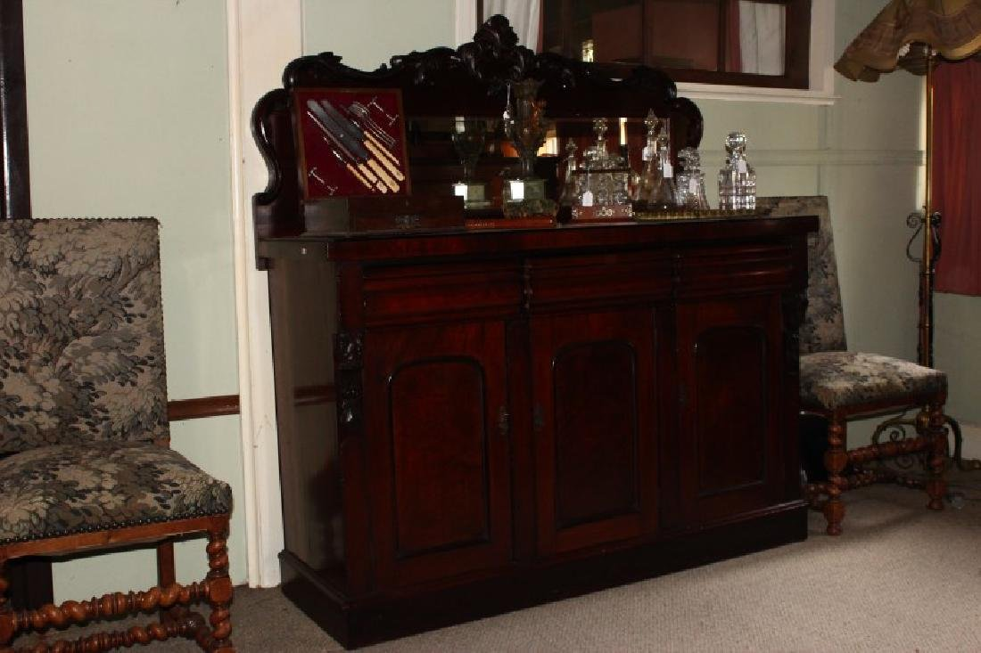 Victorian Mirror Back Sideboard,