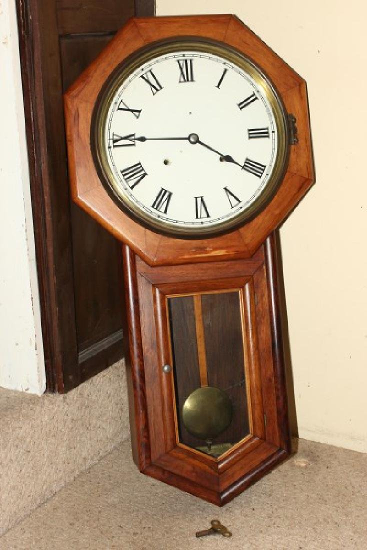 Late Victorian Wall Clock,