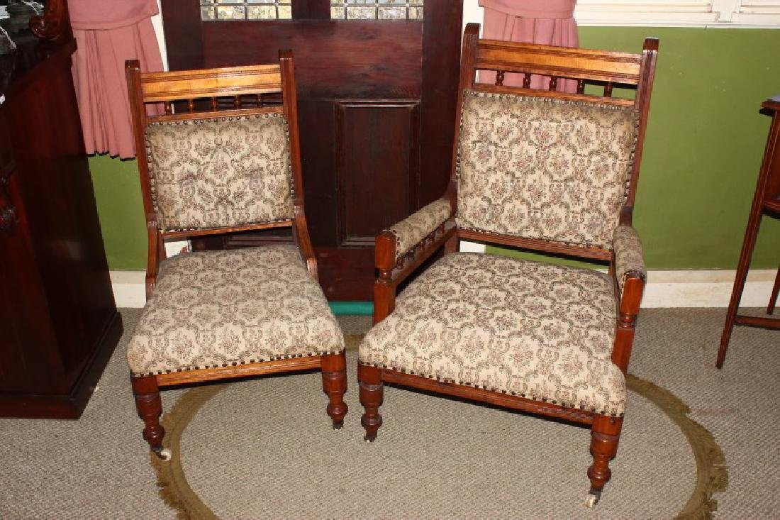 Pair of Edwardian Salon Chairs,