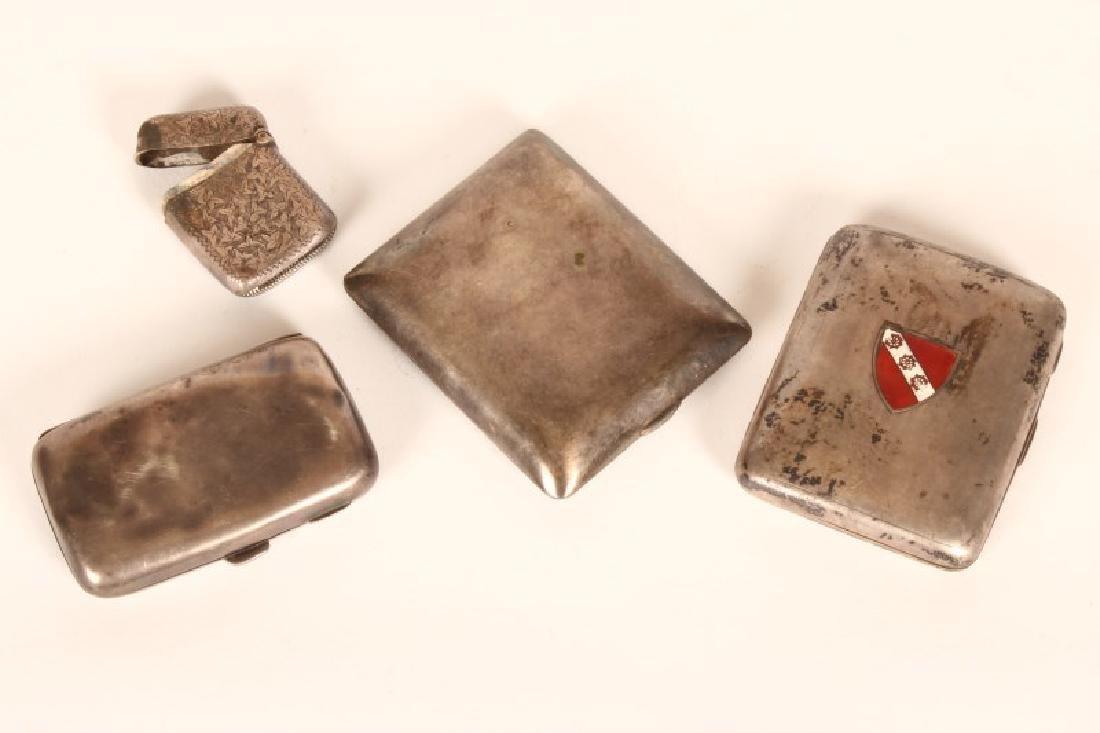 Two Edwardian Sterling Silver Cigarette Case,