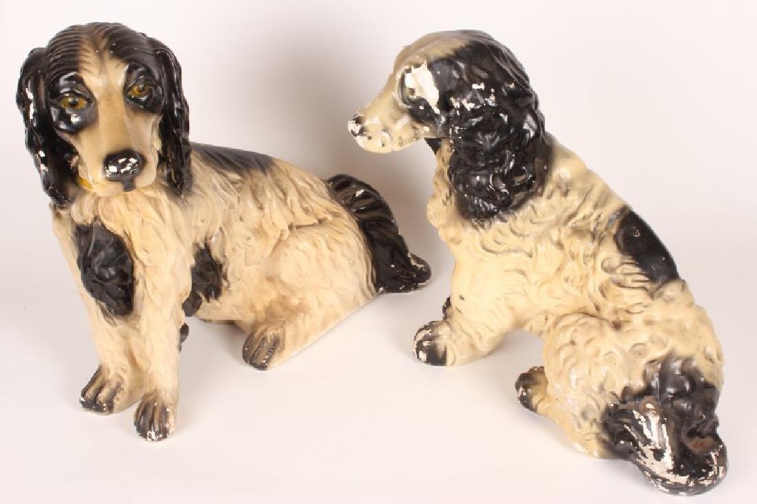 Pair of Vintage Ceramic Spaniels,