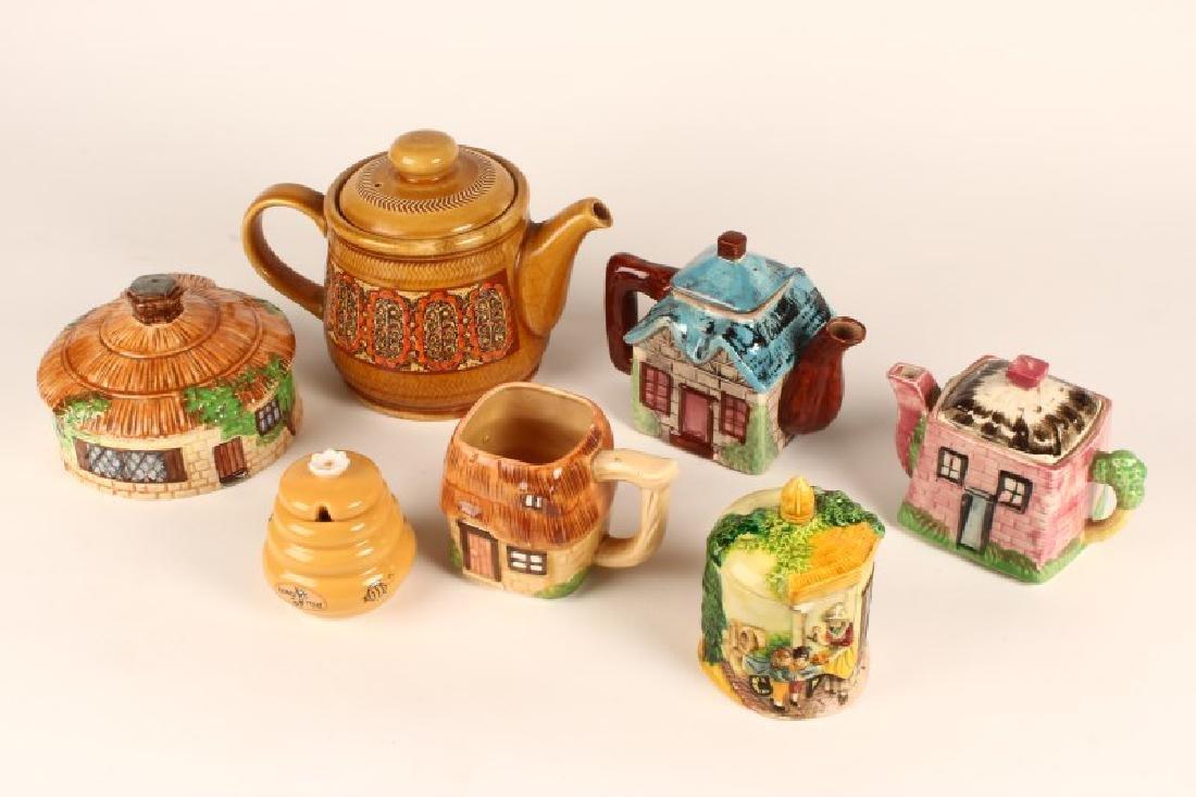Two Cottage Tea Pots,