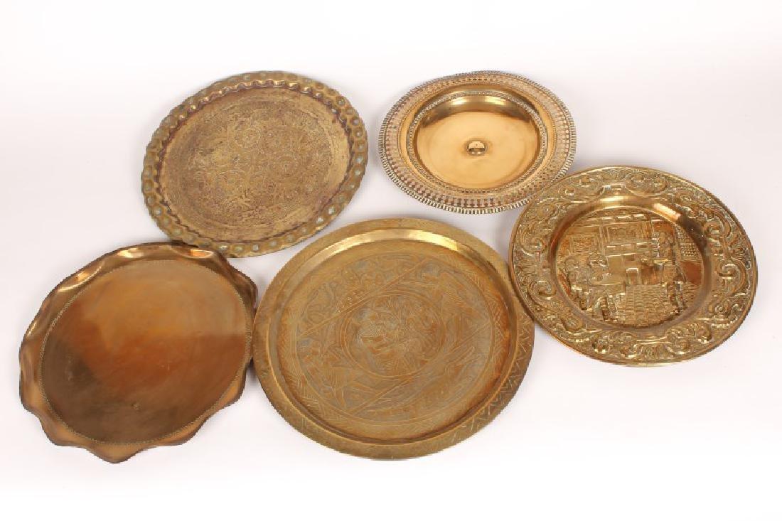 Five Various Brass Plates,