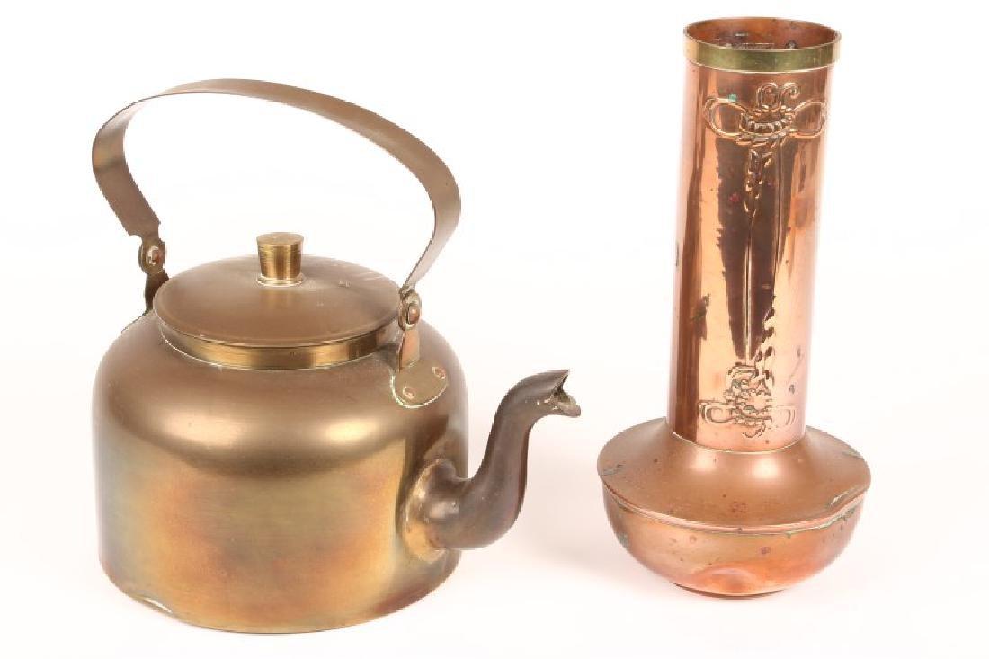 Art Nouveau Copper Vase,